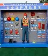 新款安防防护用品展示培训 施工安全体验馆