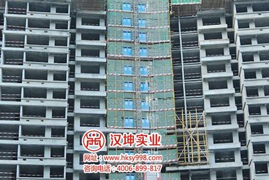 湖南|中建三局北辰三角洲项目施工电梯防护门